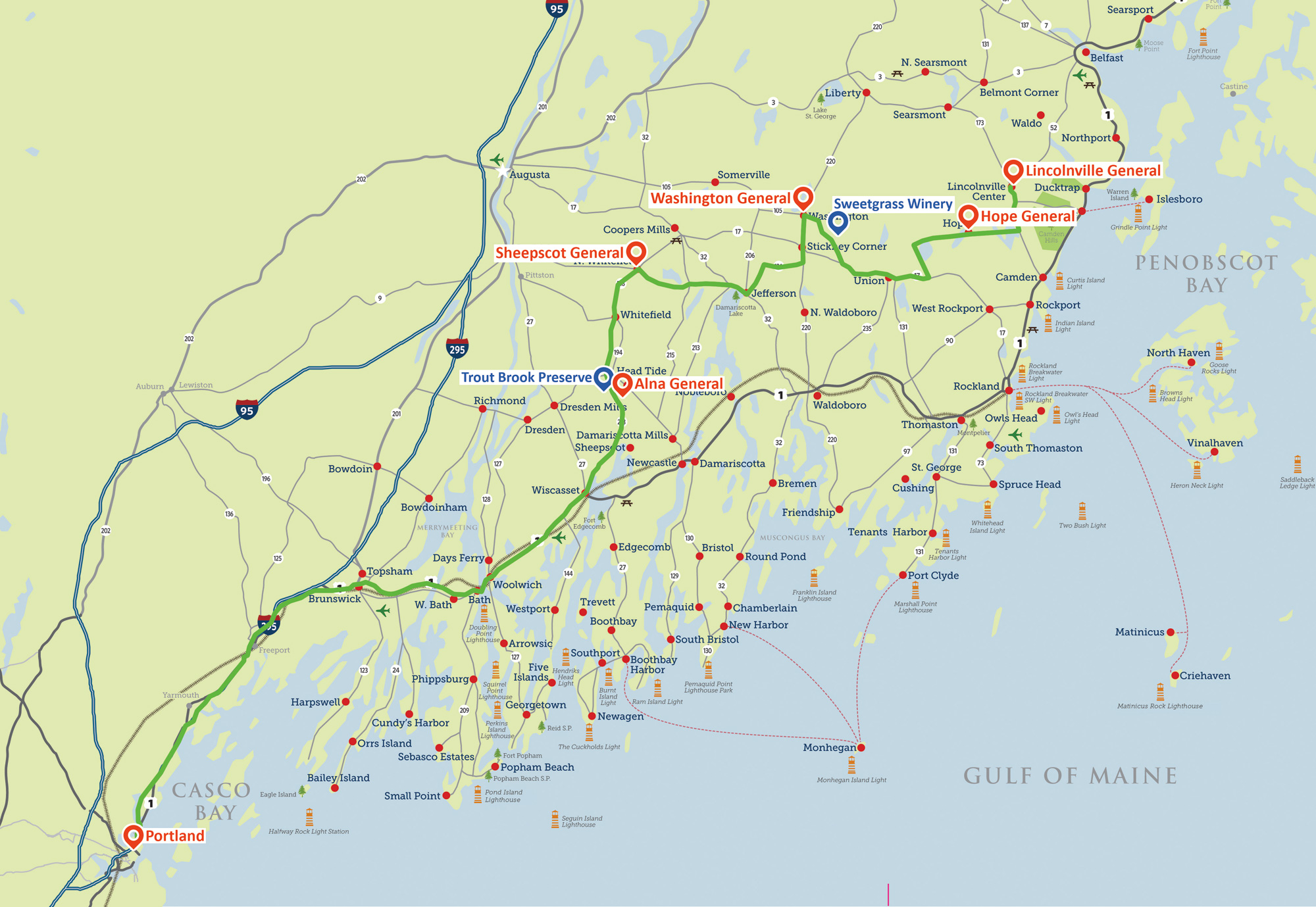 Midcoast Maine General Store Route Travel Midcoast